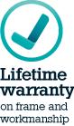 lifetime warranty on frame and workmanship