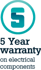 5 year warranty on electrical components